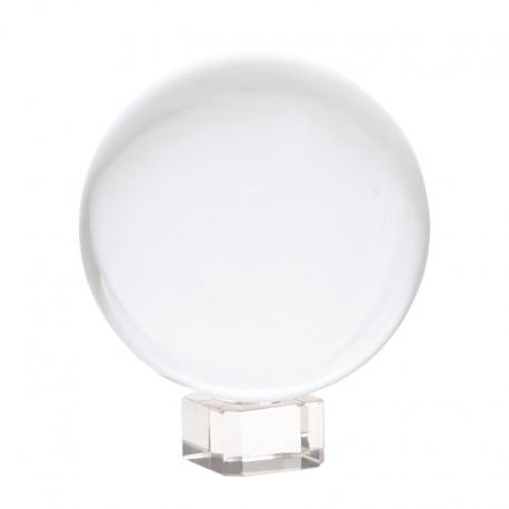 Sphère cristal + support - 8cm