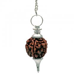 Pendule couleur argent avec Rudraksha